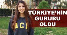 Ecenaz, Türkiye'nin gururu oldu