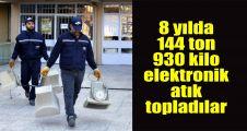 8 yılda 144 ton 930 kilo elektronik atık topladılar