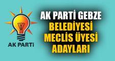 İşte AK Parti Gebze Belediyesi Meclis üyesi adayları