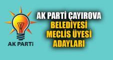 AK Parti Çayırova Meclis üyesi adayları