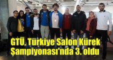 GTÜ, Türkiye Salon Kürek Şampiyonası'nda 3. oldu