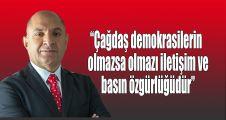 Tarhan:Çağdaş demokrasilerin olmazsa olmazı basın özgürlüğüdür