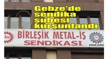 Gebze'de sendika şubesi kurşunlandı