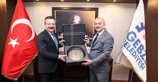 Vali Aksoy, Başkan Büyükgöz'e konuk oldu