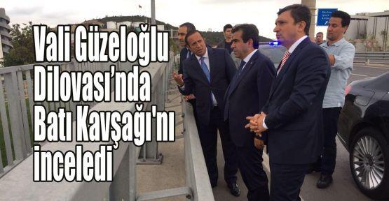 Vali Güzeloğlu Dilovası'nda Batı Kavşağı'nı inceledi
