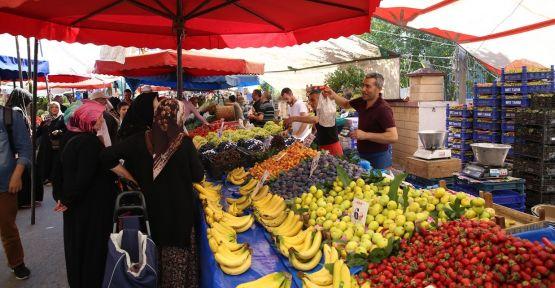 Vatandaşlar yeni kurulan pazardan memnun