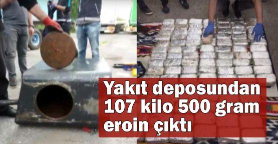 Yakıt deposundan 107 kilo 500 gram eroin çıktı