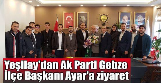 Yeşilay'dan Ak Parti Gebze İlçe Başkanı Ayar'a ziyaret