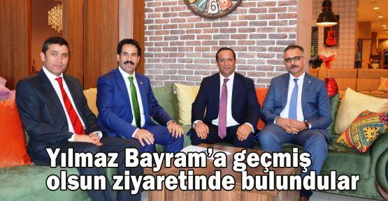 Yılmaz Bayram'a geçmiş olsun ziyaretinde bulundular