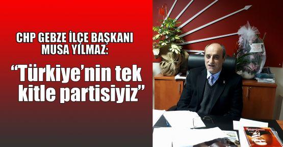 Yılmaz: Türkiye'nin tek kitle partisiyiz
