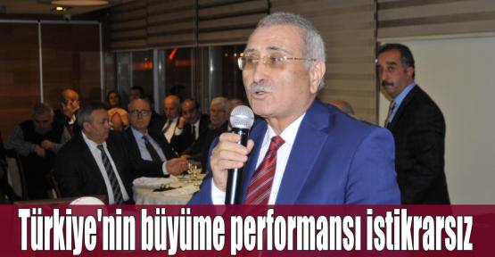 Yılmaz:Türkiye'nin büyüme performansı istikrarsız