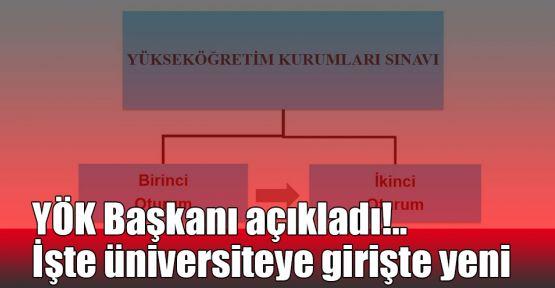 YÖK Başkanı açıkladı!.. İşte üniversiteye girişte yeni sınav sistemi!