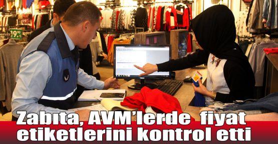 Zabıta, AVM'lerde fiyat etiketlerini kontrol etti