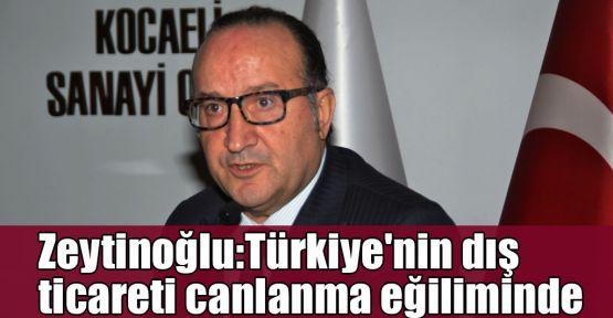 Zeytinoğlu:Türkiye'nin dış ticareti canlanma eğiliminde