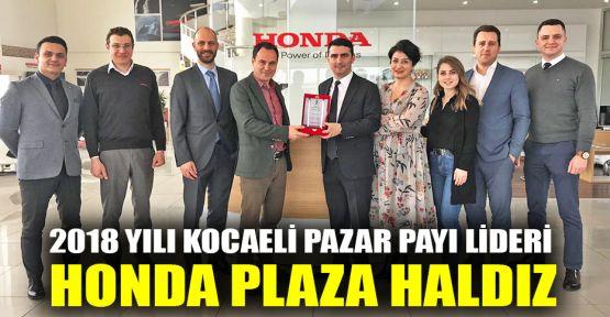 2018 yılı Kocaeli pazar payı lideri Honda Plaza Haldız