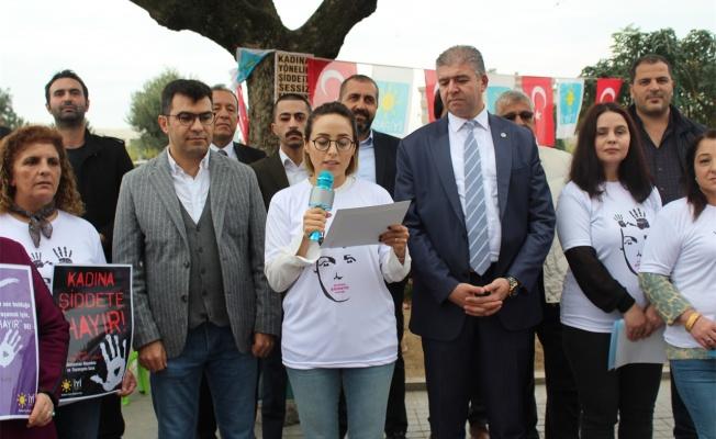 İYİ Parti kadına şiddete hayır dedi