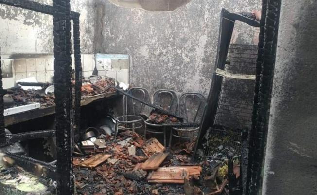 Babaeski'de yangın sonucu bir ev kullanılamaz hale geldi