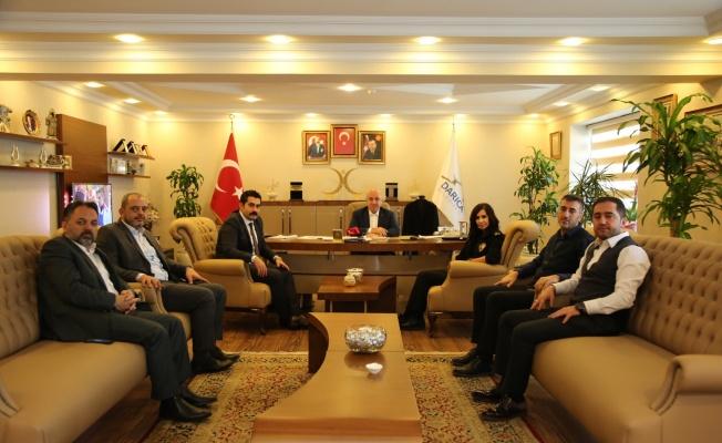Başkan Bıyık, Emniyet Müdürü Şen'i ağırladı