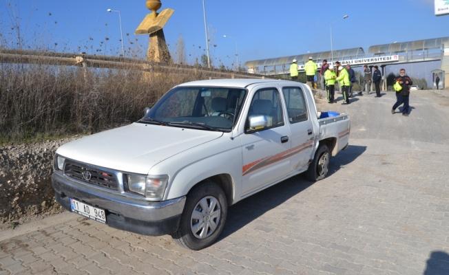 Pikap ile minibüs çarpıştı: 1 yaralı