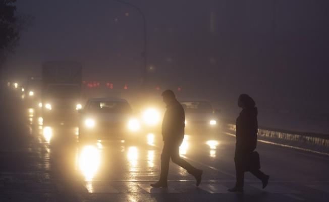 Edirne'de sis trafik seyrini olumsuz etkiledi