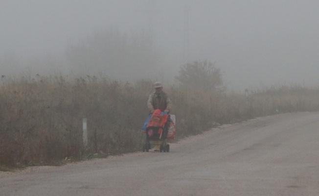 Kırklareli'nde yoğun sis etkili oluyor