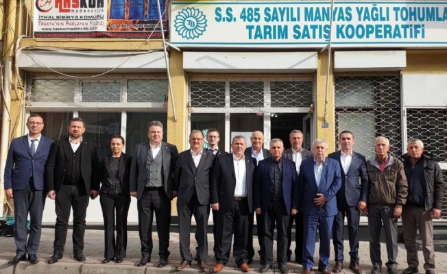 Trakya Birlik yöneticilerinden Manyas Yağlı Tohumlar Kooperatifine ziyaret