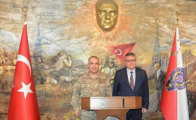 Tümgeneral Halis Zafer Koç, Tekirdağ Valisi Aziz Yıldırım'ı ziyaret etti