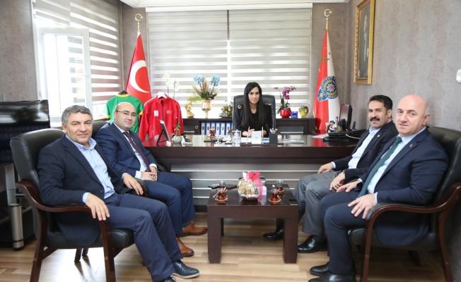 Yaman ve başkanlardan, Darıca Emniyet Müdürü Şen'e ziyaret