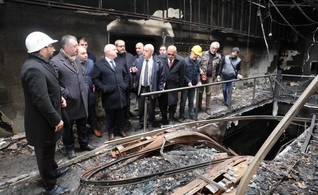 Büyükakın, Darıca'daki yangında zarar gören esnafları ziyaret etti