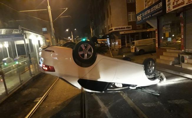 Güngören'detrafikkazası: 2 yaralı