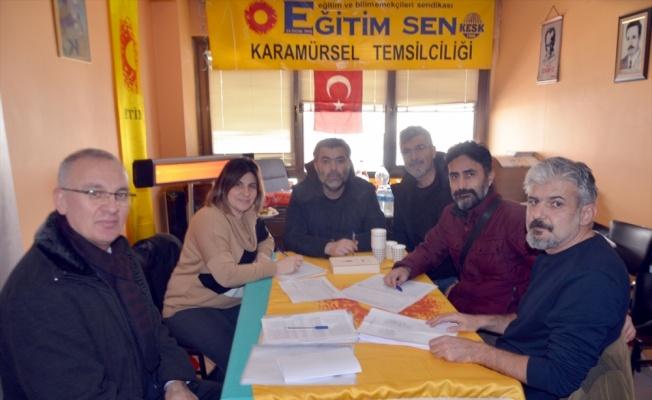 Karamürsel Eğitim-Sen'de Mehmet Demirer güven tazeledi