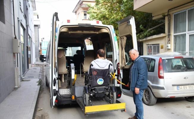 Sakarya Büyükşehir Belediyesinden engellilere ulaşım hizmeti
