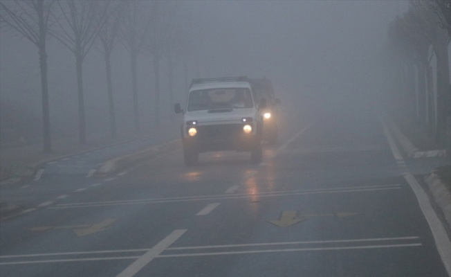 Sakarya'da sis nedeniyle görüş mesafesi 30 metreye düştü