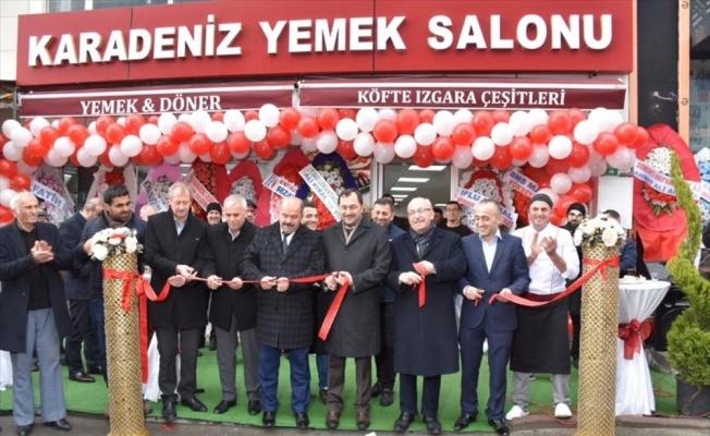 Tekirdağ'da belediye başkanları iş yeri açılışına katıldı