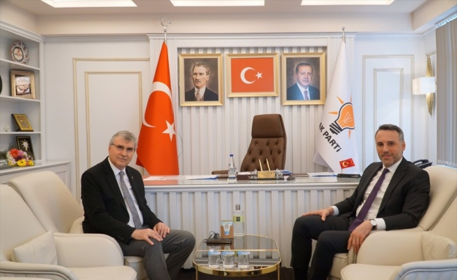 Başkan Yüce, AK Parti İl Başkanı Tever'i ziyaret etti