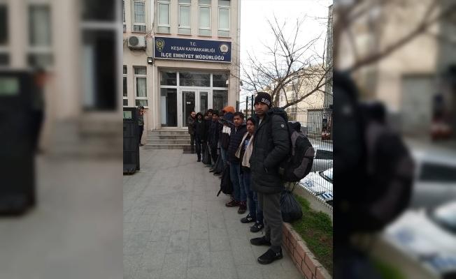 Edirne'de 12 düzensiz göçmen yakalandı