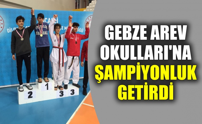 Gebze AREV Okulları'na şampiyonluk getirdi