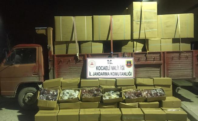 Gebze'de 5 ton 720 kilogram kaçak tütün ele geçirildi