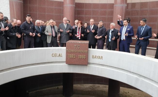 İYİ Parti Genel Başkanı Akşener'den Celal Bayar'ın anıt mezarına ziyaret
