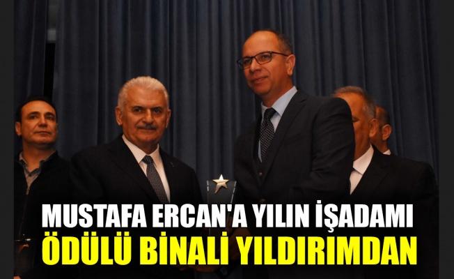 Mustafa Ercan'a 'Yılın İşadamı' ödülü Binali Yıldırım'dan