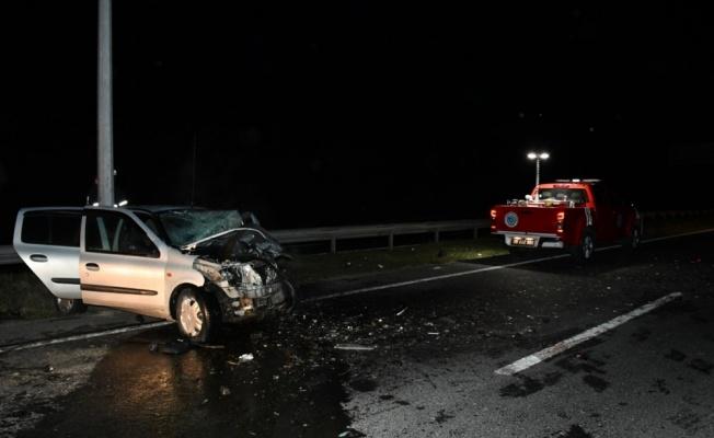 Tekirdağ'da iki otomobilin çarpıştığı kazada sürücülerden biri öldü