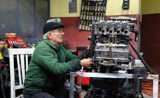 Tekirdağlı tamircinin yakıt tasarrufu için tasarladığı motoru yetkililer inceledi