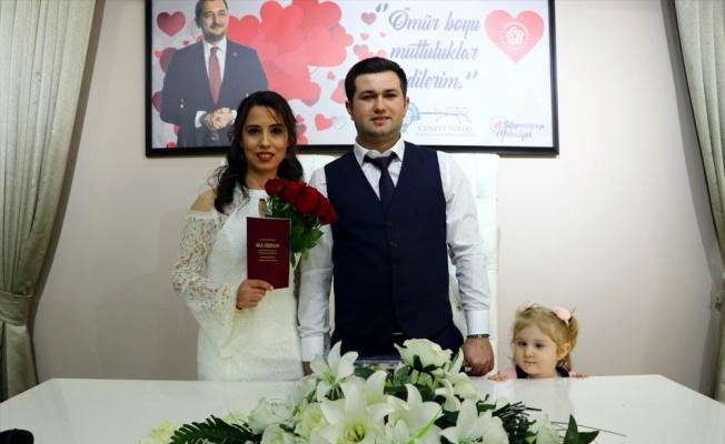 Trakya'da çiftler evlenmek için