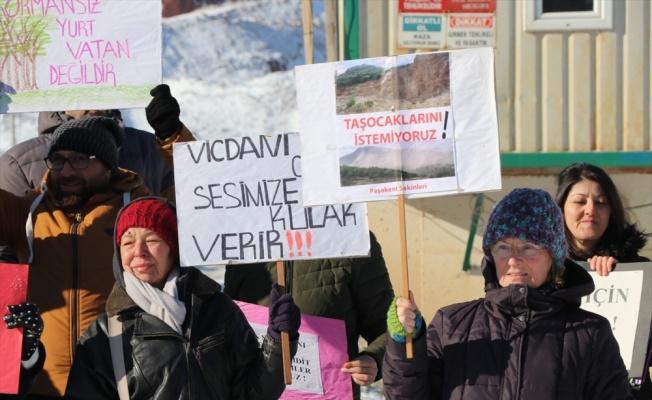 Yalova'da taş ocağı kapasite artırımına köylülerden tepki