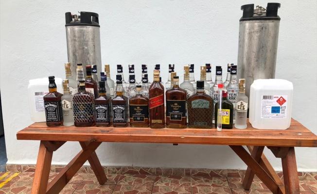 592 litre sahte içki ele geçirildi