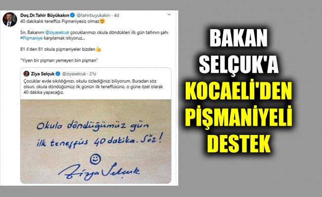 Bakan Selçuk'un ilk teneffüs twitine Kocaeli'den pişmaniyeli destek