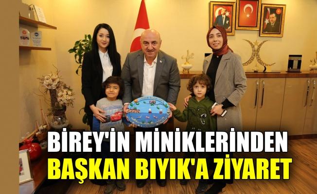 BİREY'in miniklerinden Başkan Bıyık'a ziyaret