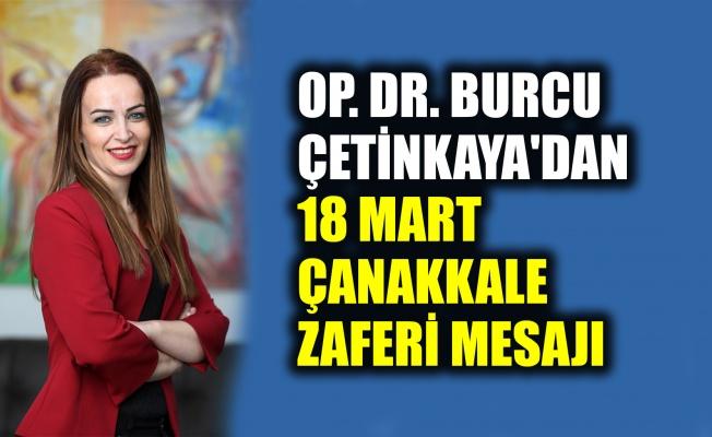 Burcu Çetinkaya'dan, Çanakkale mesajı
