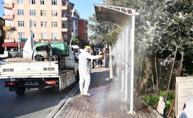 Çayırova'da dezenfekte çalışması