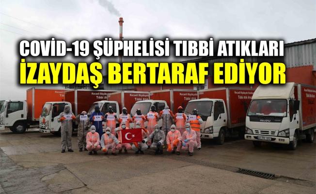 Covid-19 şüphelisi tıbbi atıklarıİZAYDAŞ bertaraf ediyor